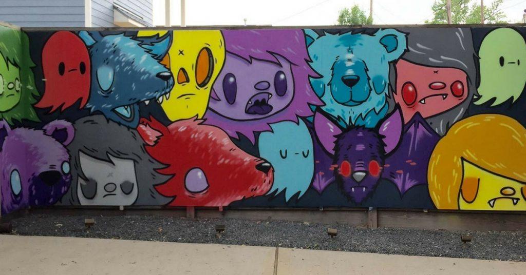 Nicky Davis Mural Vampire Pets