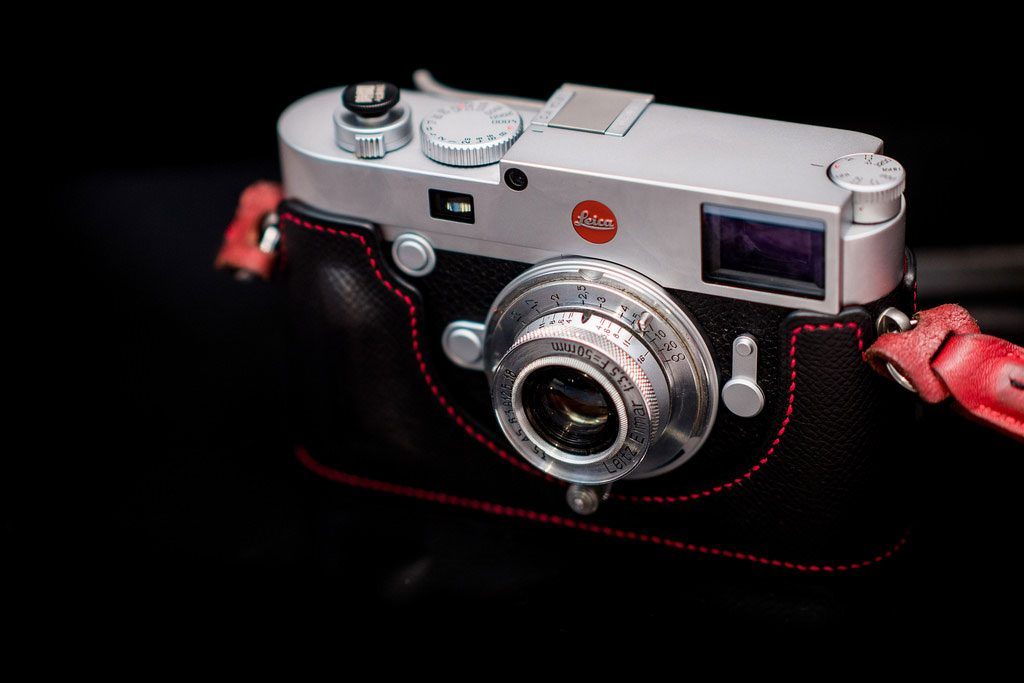 Leica M10 camera with black background