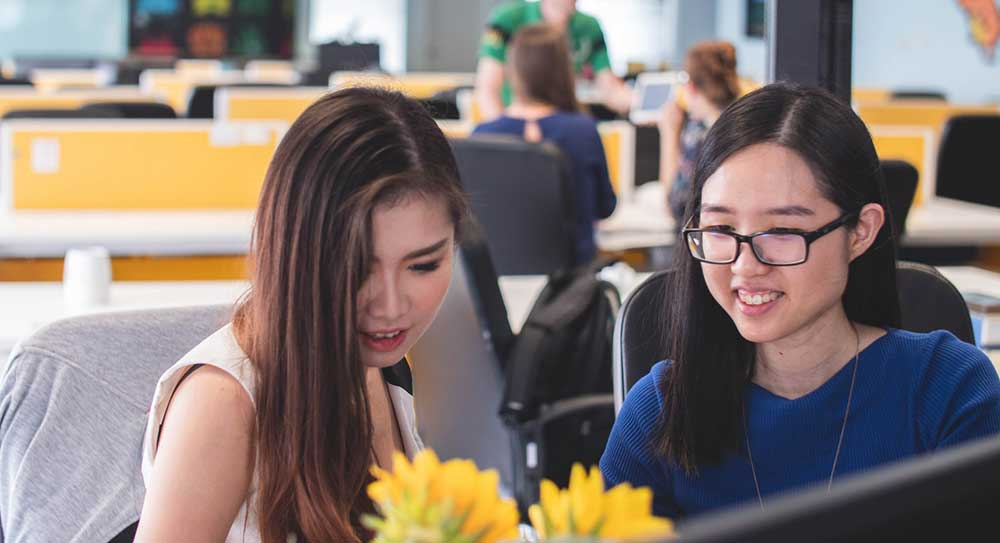 Young female asian entrepreneurs