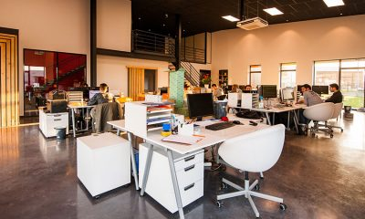 Beautiful startup office designed for efficiency and productivity