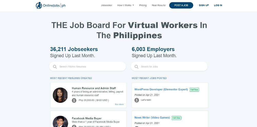 onlinejobs.ph site